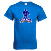 Royal Blue T Shirt-Arched Rollins Tars With Standing Tar