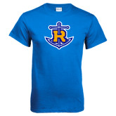 Royal Blue T Shirt-Official Logo Distressed