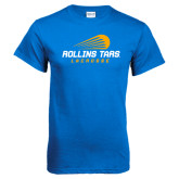 Royal T Shirt-Rollins Tars Lacrosse Stacked