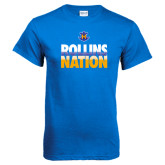 Royal Blue T Shirt-Rollins Nation Stacked