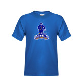 Youth Royal T Shirt-Arched Rollins Tars With Standing Tar