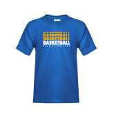 Youth Royal T Shirt-Basketball Repeating