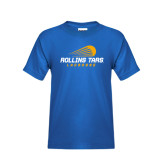 Youth Royal T Shirt-Rollins Tars Lacrosse Stacked