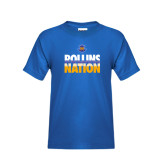 Youth Royal T Shirt-Rollins Nation Stacked