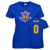 Ladies Royal T Shirt-Official Logo, Custom Tee w/ Name and #