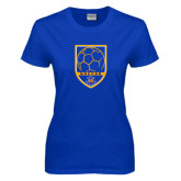 Ladies Royal T Shirt-Soccer Shield