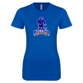Next Level Ladies SoftStyle Junior Fitted Royal Tee-Arched Rollins Tars With Standing Tar