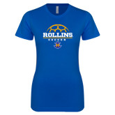 Next Level Ladies SoftStyle Junior Fitted Royal Tee-Rollins Soccer Stacked