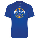 Under Armour Royal Tech Tee-Rollins Basketball Arched w/ Ball