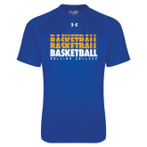 Under Armour Royal Tech Tee-Basketball Repeating
