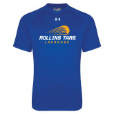 Under Armour Royal Tech Tee-Rollins Tars Lacrosse Stacked