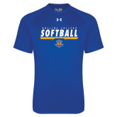 Under Armour Royal Tech Tee-Rollins College Softball Underline