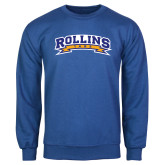 Royal Fleece Crew-Arched Rollins Tars