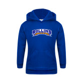 Youth Royal Fleece Hood-Arched Rollins Tars