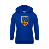 Youth Royal Fleece Hood-Soccer Shield