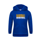 Youth Royal Fleece Hood-Basketball Repeating