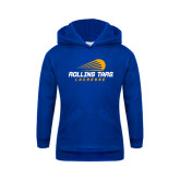 Youth Royal Fleece Hoodie-Rollins Tars Lacrosse Stacked