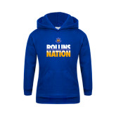 Youth Royal Fleece Hoodie-Rollins Nation Stacked