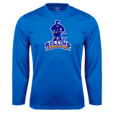 Performance Royal Longsleeve Shirt-Arched Rollins Tars With Standing Tar