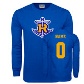 Royal Long Sleeve T Shirt-Official Logo, Custom Tee w/ Name and #