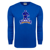 Royal Long Sleeve T Shirt-Arched Rollins Tars With Standing Tar