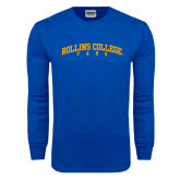 Royal Long Sleeve T Shirt-Arched Rollins College Tars