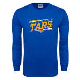 Royal Long Sleeve T Shirt-Slanted Rollins College Tars