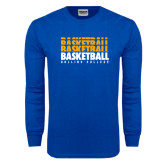 Royal Long Sleeve T Shirt-Basketball Repeating