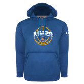 Under Armour Royal Performance Sweats Team Hoodie-Rollins Basketball Arched w/ Ball