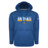 Under Armour Royal Performance Sweats Team Hoodie-Rollins College Softball Underline