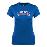 Ladies Syntrel Performance Royal Tee-Arched Rollins Tars