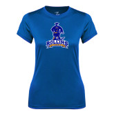 Ladies Syntrel Performance Royal Tee-Arched Rollins Tars With Standing Tar