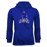 Royal Fleece Hoodie-Arched Rollins Tars With Standing Tar