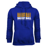 Royal Fleece Hoodie-Basketball Repeating