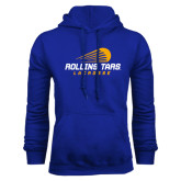 Royal Fleece Hoodie-Rollins Tars Lacrosse Stacked