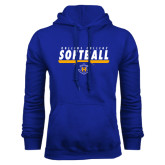 Royal Fleece Hoodie-Rollins College Softball Underline