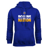 Royal Fleece Hood-Rollins Nation Stacked