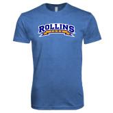 Next Level Vintage Royal Tri Blend Crew-Arched Rollins Tars