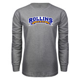 Grey Long Sleeve T Shirt-Arched Rollins Tars