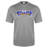 Performance Grey Heather Contender Tee-Arched Rollins Tars