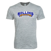 Next Level SoftStyle Heather Grey T Shirt-Arched Rollins Tars