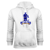 White Fleece Hoodie-Arched Rollins Tars With Standing Tar