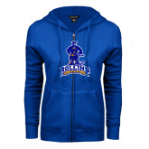 ENZA Ladies Royal Fleece Full Zip Hoodie-Arched Rollins Tars With Standing Tar
