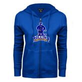 ENZA Ladies Royal Fleece Full Zip Hoodie-Arched Rollins Tars With Standing Tar