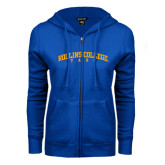 ENZA Ladies Royal Fleece Full Zip Hoodie-Arched Rollins College Tars