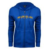 ENZA Ladies Royal Fleece Full Zip Hoodie-Arched Rollins College Tars
