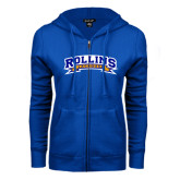 ENZA Ladies Royal Fleece Full Zip Hoodie-Lacrosse