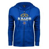 ENZA Ladies Royal Fleece Full Zip Hoodie-Rollins Soccer Stacked