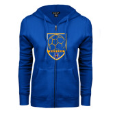 ENZA Ladies Royal Fleece Full Zip Hoodie-Soccer Shield