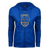 ENZA Ladies Royal Fleece Full Zip Hoodie-Soccer Shield